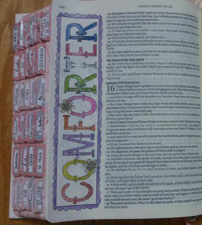 bible journaling comforter