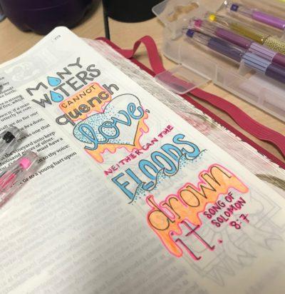 Bible Journaling Song of Solomon 8:7